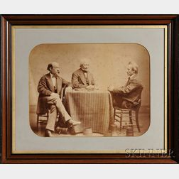 Albumen Photographic Print of Alvan Clark (1804-1887) and His Two Sons