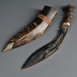 Gurkha Knife with Two Utility Knives in One Sheath, Kukri