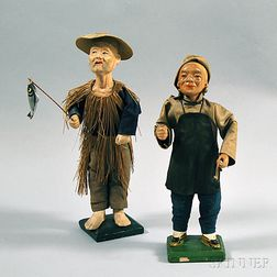 Two Chinese Folk Dolls