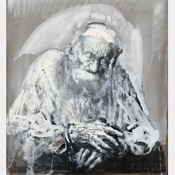 Hyman Bloom (American, 1913-2009)      Old Man Sleeping