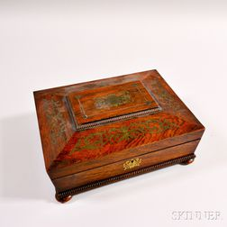 Rosewood Brass-inlaid Game Box