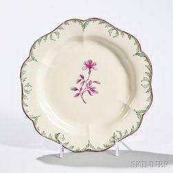 Creamware Dessert Plate