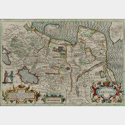 Central Asia and Asiatic Russia: Siberia, China, Korea. Jodocus Hondius (1563-1612) Tartaria.