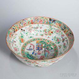 Rose Mandarin Export Porcelain Punch Bowl