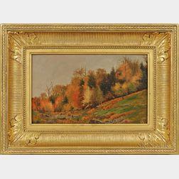 Jervis McEntee (New York, 1828-1891)      Late Autumn Hillside