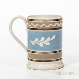 Pearlware Slip-banded Pint Mug
