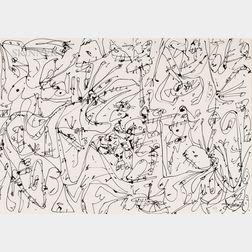 Antonio Saura (Spanish, 1930-1998)      Untitled