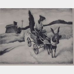 Framed Reproduction Horse Wagon Print