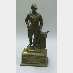 Patinated Bronze Concord Minuteman Presentation Figure