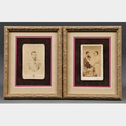 Two Period Carte-de-visites of the Russian Imperial Family