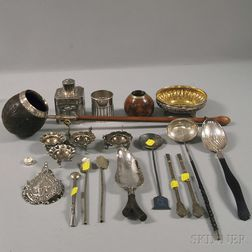 Group of Mostly Peruvian and Mexican Silver Tableware and Flatware