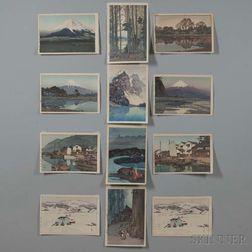Hiroshi Yoshida (1876-1950), Twelve Woodblock Prints