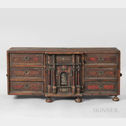 Baroque-style Inlaid Table Cabinet