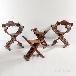 Four Pieces of Renaissance Revival Seating