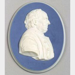 Wedgwood  & Bentley Oval Portrait Medallion of Edward Bourne