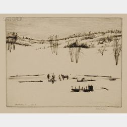 William Harry Warren Bicknell (American, 1860-1947)      Lot of Eleven Works:   Ten Landscape Views and a Portrait of Robert E. Lee.
