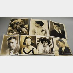 Six Signed Movie Studio Publicity Portrait Photographs