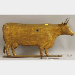 Gilt Molded Copper Cow Weather Vane