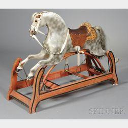 Painted Wood Appaloosa Rocking Horse