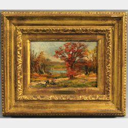 William Anton Joseph Claus (American, 1862-1926)      Autumn Landscape.