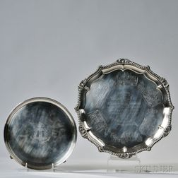 Two George III/IV Sterling Silver Salvers