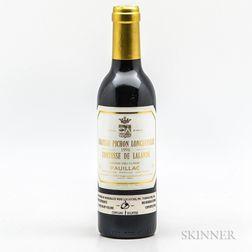 Chateau Pichon Longueville Comtesse de Lalande 1996, 1 demi bottle