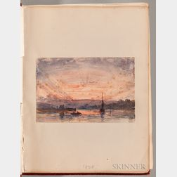 School of Joseph Mallord William Turner (British, 1775-1851)      Album of Watercolor Views of Devonshire in a Custom Slipcase