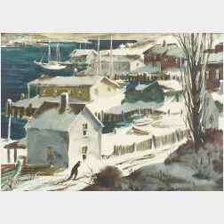 Henry Gasser (American, 1909-1981)  A Walk to the Harbor, Winter