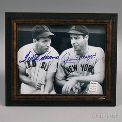 Ted Williams and Joe DiMaggio Autographed Photograph