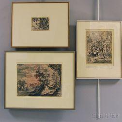 Three Old Master Prints:      Heinrich Aldegrever (German, 1502-c. 1561), The Rich Man Taken to Hell...