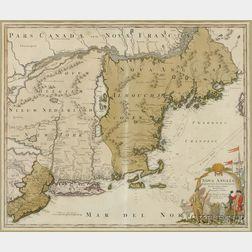 New England. Johannes Baptista Homann (1664-1724) Nova Anglia Septentrionali