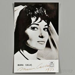 Callas, Maria (1923-1977) Signed Photo, 1973.