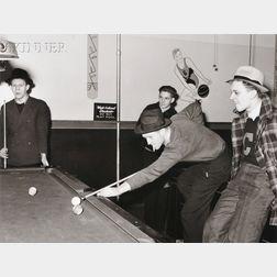 Arthur Rothstein (American, 1915-1985)      Pool Hall, Culp, Illinois