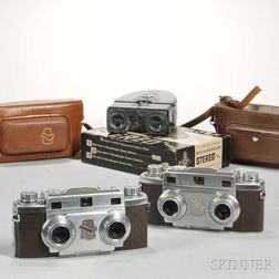 Two Revere Stereo 33 Cameras