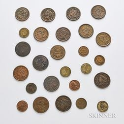 Twenty-six Large and Small Cents