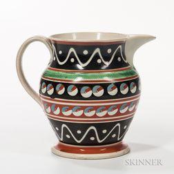 Pearlware Shouldered Slip-decorated Jug