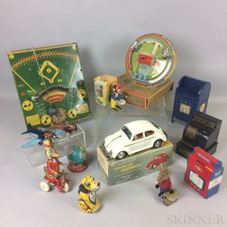 Group of Lithographed and Pressed Metal Toys