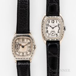 "Two Illinois Watch Co. ""Beau Brummel"" and ""Beau Monde"" Wristwatches"