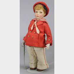 Large Lenci Boy Doll