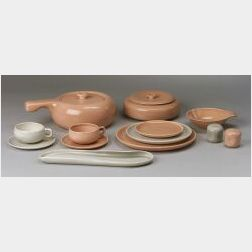 Forty-four Pieces of  Russell Wright American Modern Dinnerware