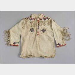 Northern Plains Beaded Hide Boy's Shirt