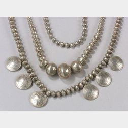 Three Southwest Silver Necklaces