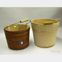 Two Utilitarian Painted Buckets