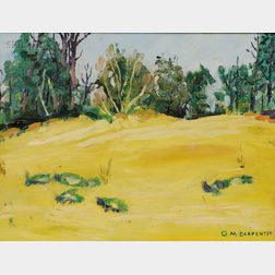 Lot of Two Spring Views:      American School, 20th/21st Century, Dunes at Litchfield  /A South Carolina Landscape