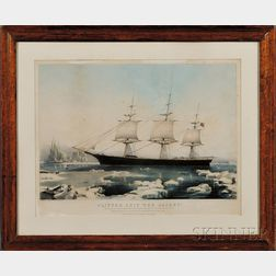 """Nathaniel Currier, publisher (American, 1813-1888)      CLIPPER SHIP """"RED JACKET.,"""""""