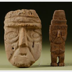 Two Pre-Columbian Carved Wood Items