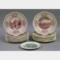 Twenty-two Assorted Wedgwood Bryn Mawr College Ceramic Plates.