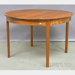 Margonelli Furniture Modern Circular Walnut Table