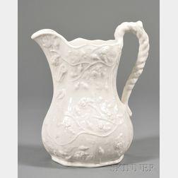"Bennington Porcelain ""Wild Rose"" Pattern Pitcher"