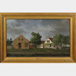 Franklin Stanwood (Maine, 1852-1888)      Stockbridge Homestead, Freeport, Maine.
